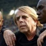 Claude Le Roy (c), le 10 juin 2012, Kinshasa (AFP)