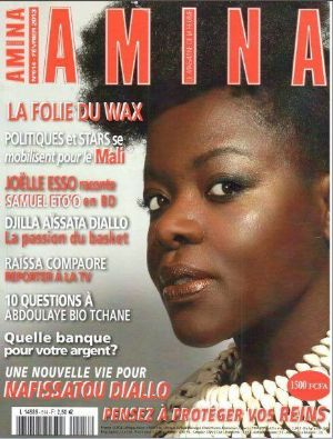 """<strong style=""""margin-right:4px;"""">© Facebook.</strong>  Joëlle Esso en couverture d'Amina"""