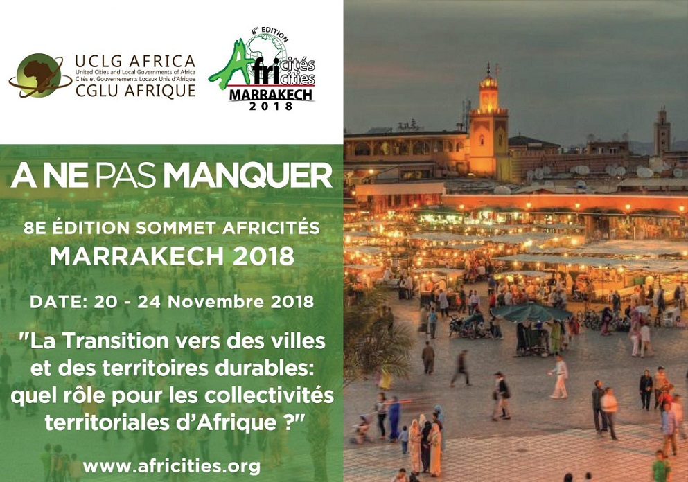 Afrique : Marrakech accueille la 8ème édition du Sommet Africités en novembre prochain
