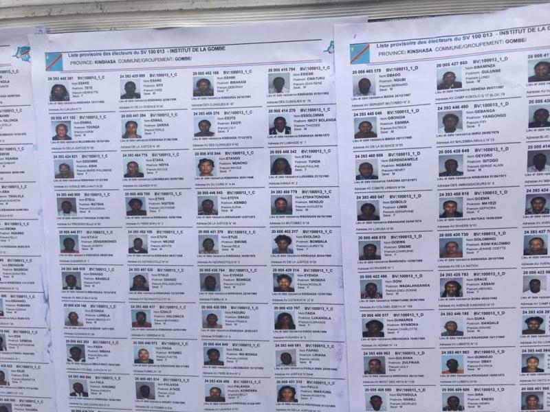 RDC/Processus électoral: face aux accusations d'électeurs fictifs, la CENI démarre l'affichage des listes provisoires