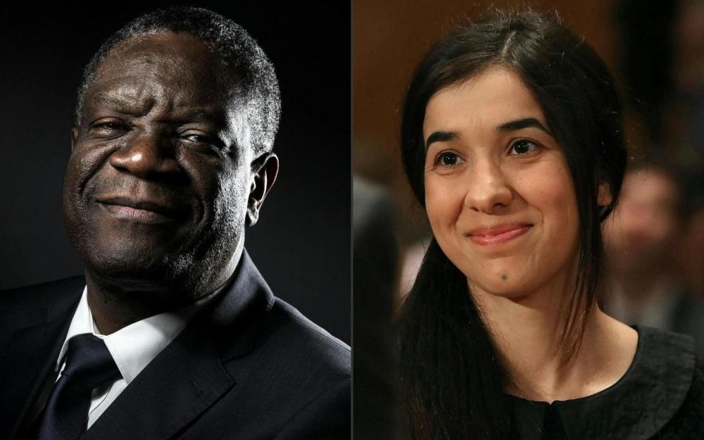 Prix Nobel de la Paix 2018: le chirurgien Congolais Denis Mukwege et l'ex captive de Daech, Nadia Murad, lauréats
