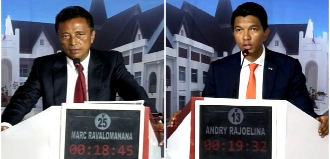Madagascar/Présidentielle: à J-3 du deuxième tour, Ravalomanana et Rajoelina se sont livrés un «combat télévisé»