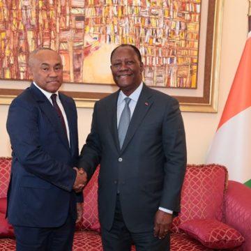 Rencontre Ahmad-Ouattara: la Côte d'Ivoire accepte d'abriter la CAN 2023